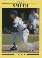 1991 Fleer #433 Greg Smith front image