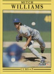 1991 Fleer #439 Mitch Williams