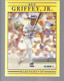 1991 Fleer #450A Ken Griffey Jr./Bat .300