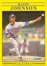 1991 Fleer #455 Randy Johnson