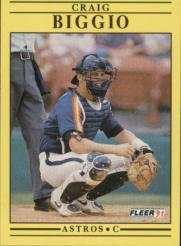1991 Fleer #499 Craig Biggio