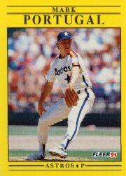 1991 Fleer #512 Mark Portugal