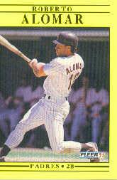 1991 Fleer #523 Roberto Alomar