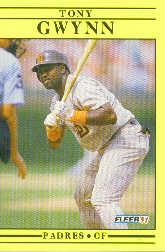 1991 Fleer #529 Tony Gwynn