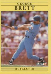 1991 Fleer #552 George Brett