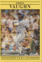 1991 Fleer #599 Greg Vaughn