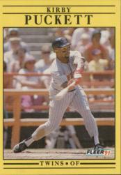 1991 Fleer #623 Kirby Puckett