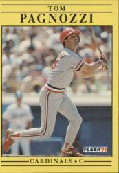1991 Fleer #641 Tom Pagnozzi
