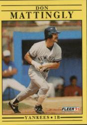 1991 Fleer #673 Don Mattingly