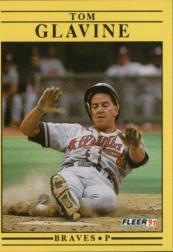 1991 Fleer #689 Tom Glavine