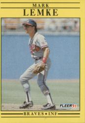 1991 Fleer #696 Mark Lemke