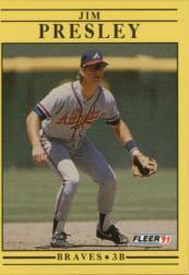 1991 Fleer #700 Jim Presley