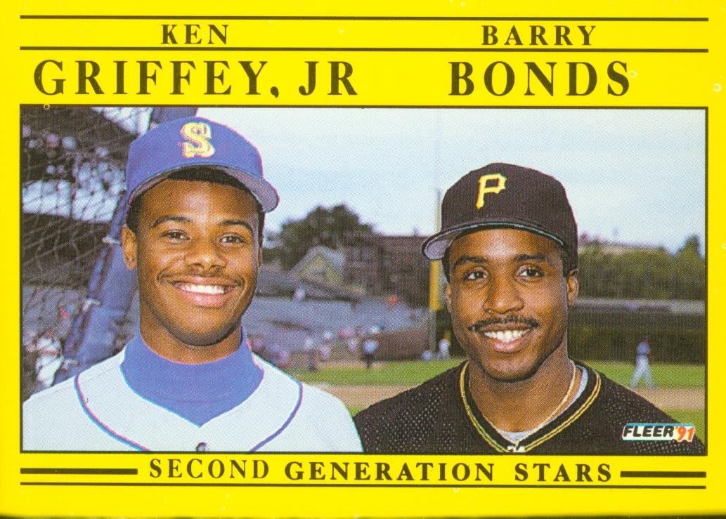 1991 Fleer #710 K.Griffey Jr./B.Bonds