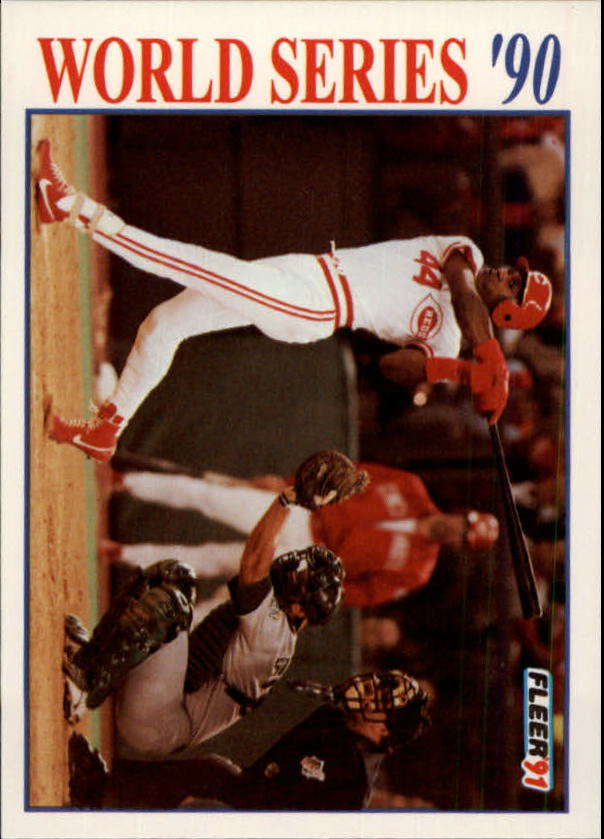 1991 Fleer World Series #1 Eric Davis