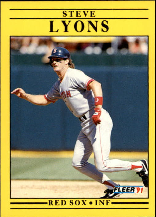 1991 Fleer Update #6 Steve Lyons