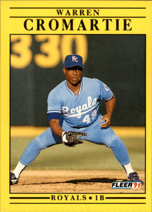 1991 Fleer Update #25 Warren Cromartie