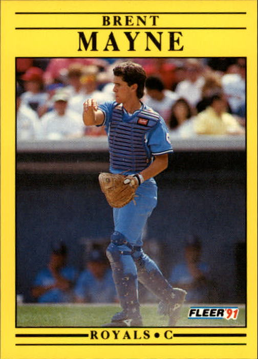 1991 Fleer Update #28 Brent Mayne