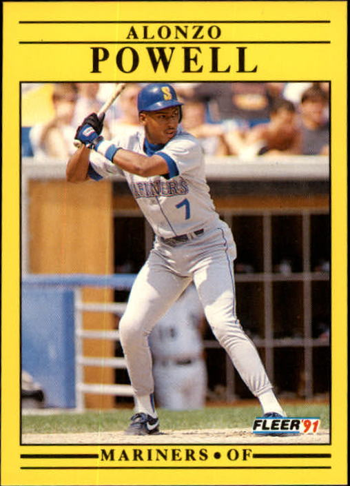 1991 Fleer Update #55 Alonzo Powell RC