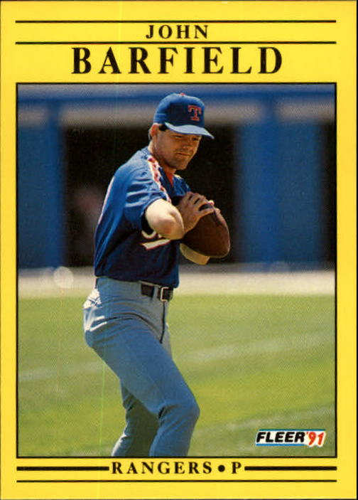 1991 Fleer Update #58 John Barfield