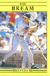 1991 Fleer Update #72 Sid Bream