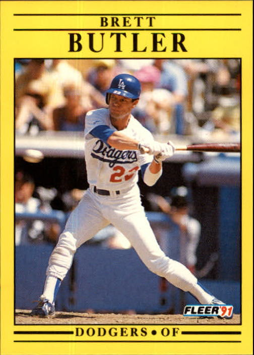 1991 Fleer Update #91 Brett Butler