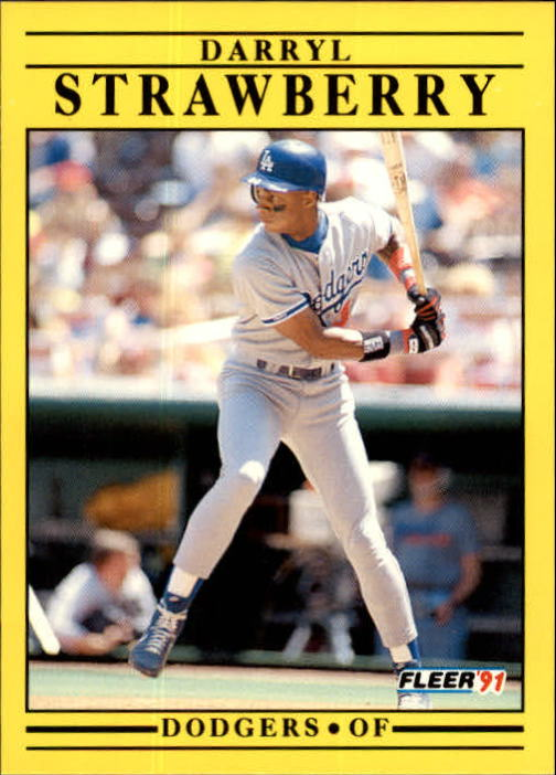 1991 Fleer Update #96 Darryl Strawberry