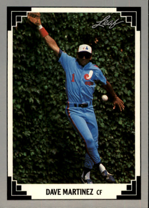 1991 Leaf #8 Dave Martinez
