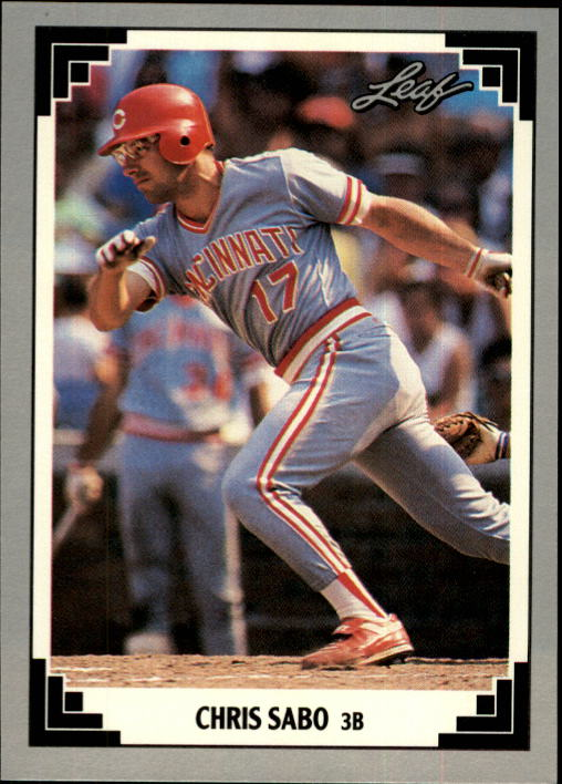 1991 Leaf #65 Chris Sabo