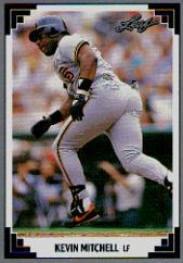 1991 Leaf #85 Kevin Mitchell