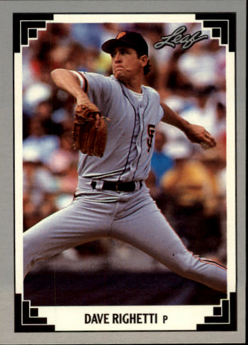 1991 Leaf #301 Dave Righetti