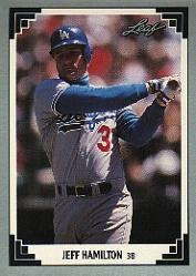 1991 Leaf #509 Jeff Hamilton