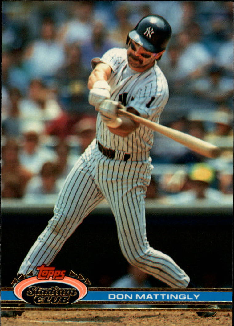 1991 Stadium Club #21 Don Mattingly front image