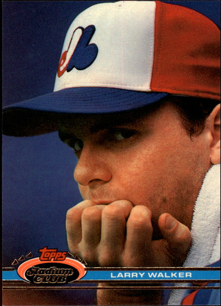 1991 Stadium Club #93 Larry Walker
