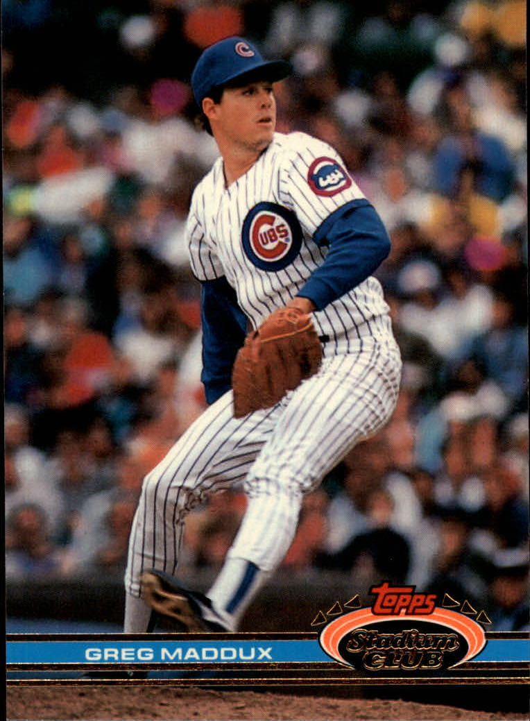 1991 Stadium Club #126 Greg Maddux