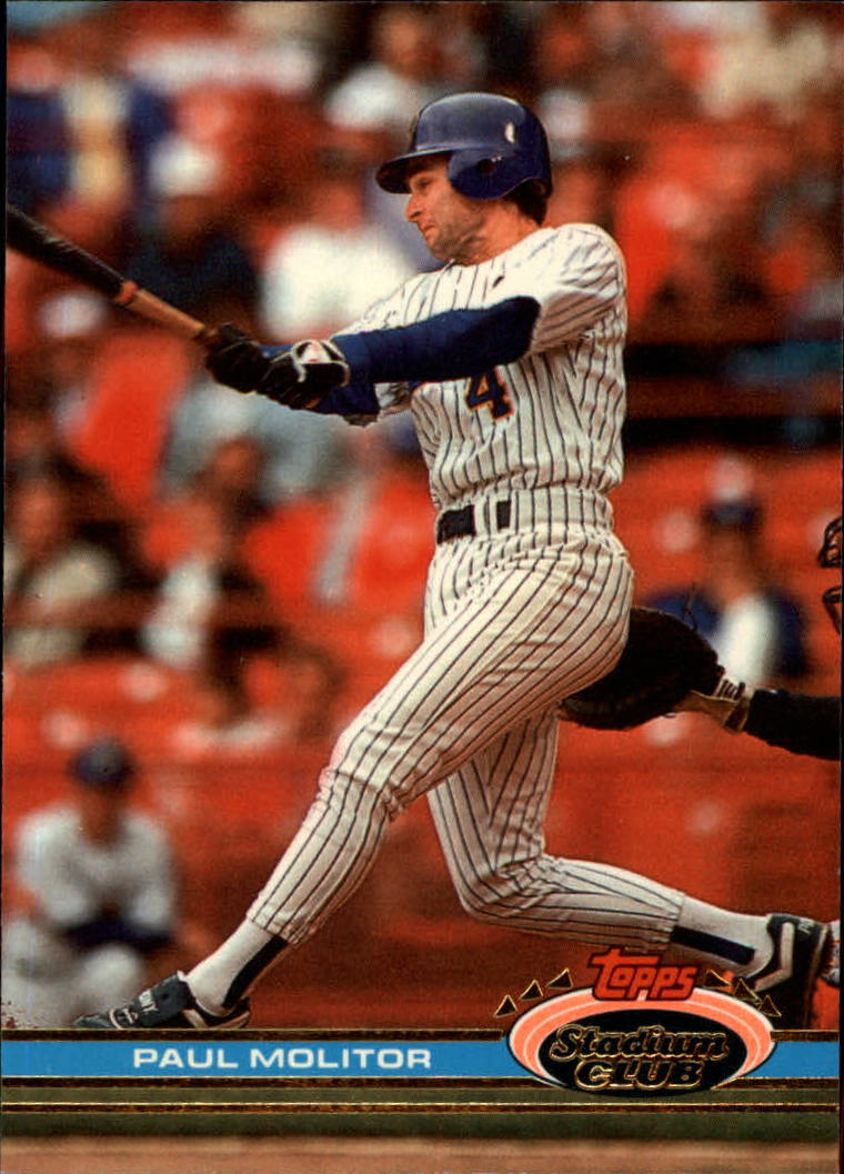 1991 Stadium Club #245 Paul Molitor