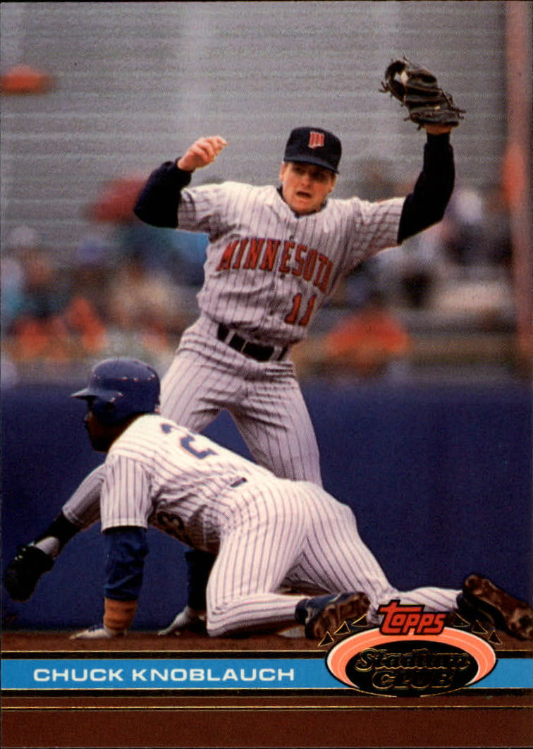 1991 Stadium Club #548 Chuck Knoblauch
