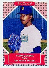 1991-92 ProCards Tomorrow's Heroes #244 Pedro Martinez