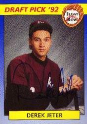 1992 Front Row Draft Picks Autographs #6 Derek Jeter