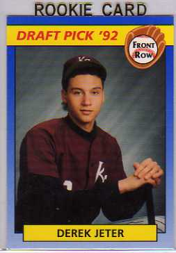 1992 Front Row Draft Picks #55 Derek Jeter