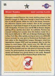 1992 Upper Deck Minors #55 Manny Ramirez DS back image