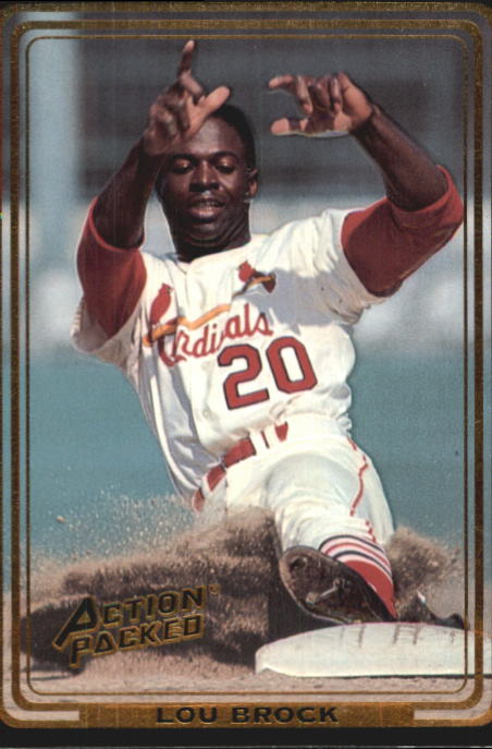 1992 Action Packed ASG #2 Lou Brock