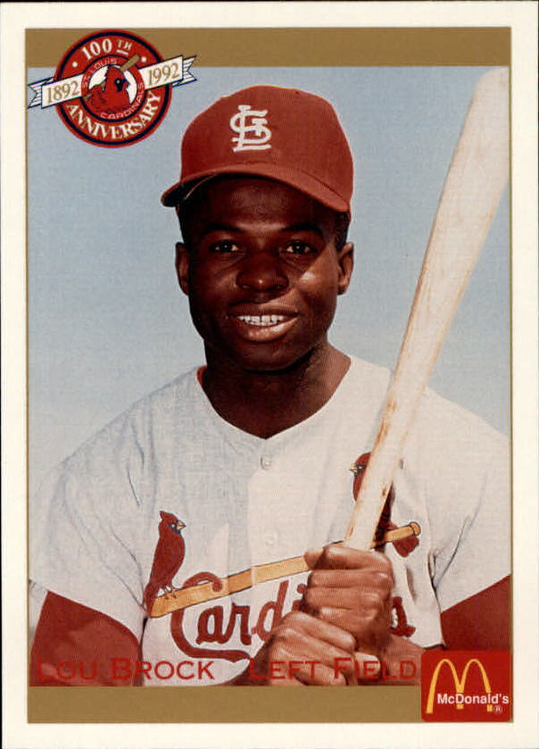 1992 Cardinals McDonald's/Pacific #30 Lou Brock