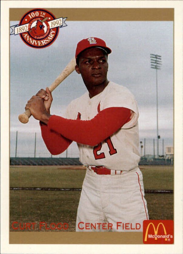 1992 Cardinals McDonald's/Pacific #32 Curt Flood