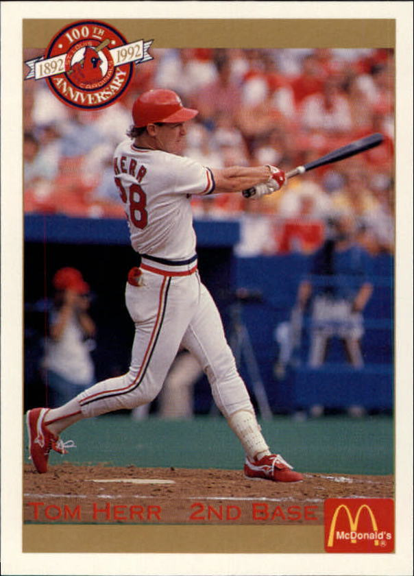 1992 Cardinals McDonald's/Pacific #37 Tom Herr