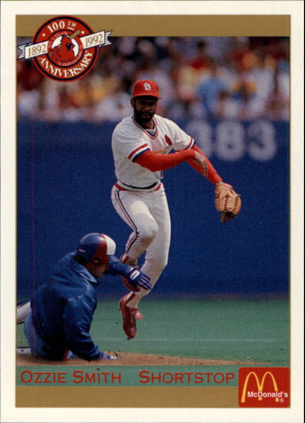 1992 Cardinals McDonald's/Pacific #38 Ozzie Smith