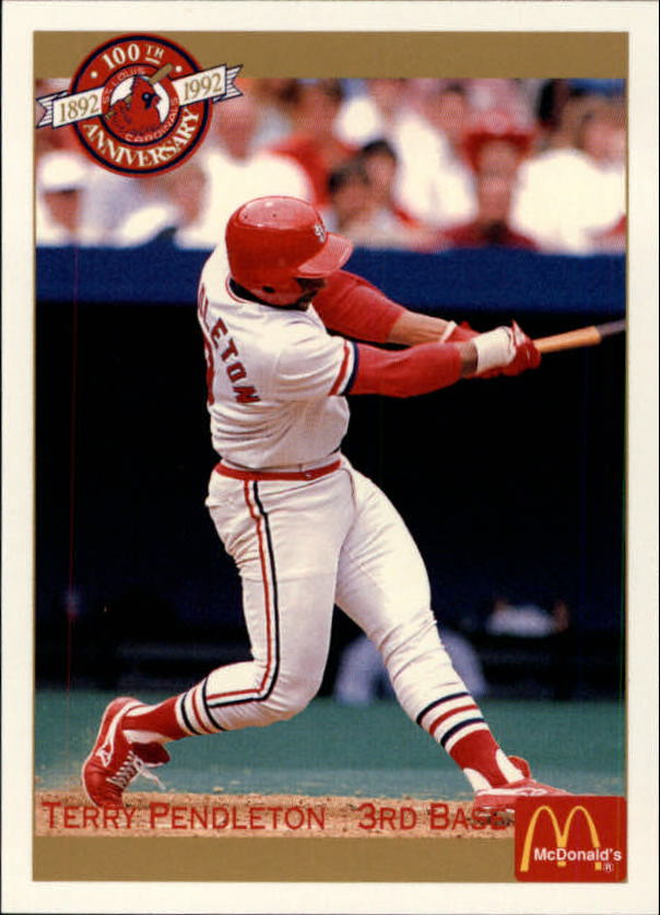 1992 Cardinals McDonald's/Pacific #40 Terry Pendleton