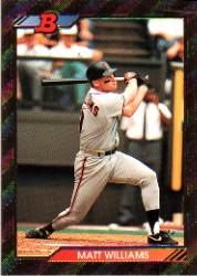 1992 Bowman #579 Matt Williams FOIL