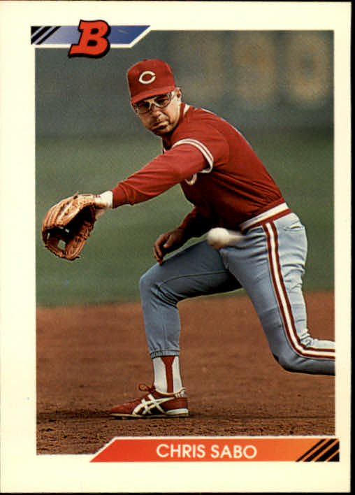 1992 Bowman #595 Chris Sabo
