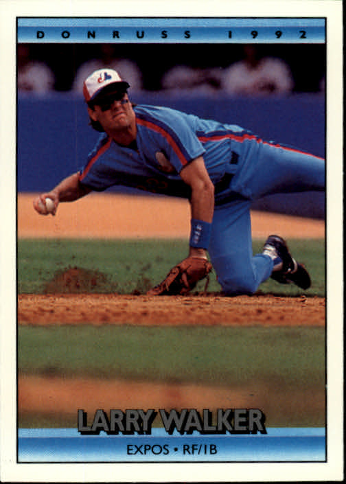 1992 Donruss #259 Larry Walker