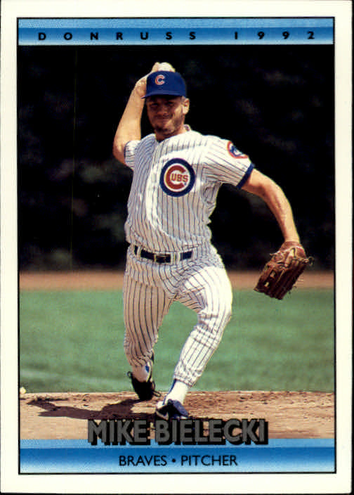 1992 Donruss #776 Mike Bielecki/(Shown on Cubs&/but listed on Brav
